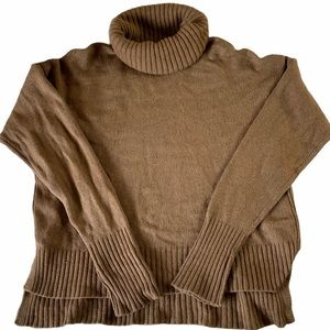 Anthropologie Brown Turtleneck Sweater